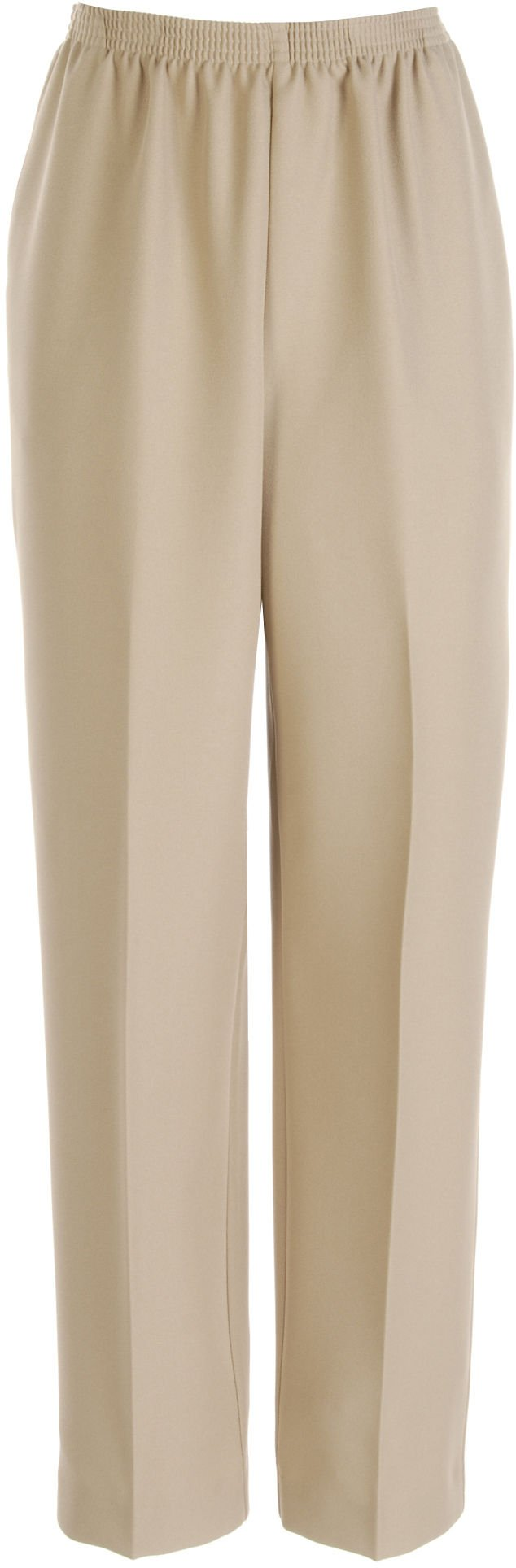 Alfred Dunner Women's Polyester Pull-On Pants - Medium Length, Tan, 14 by Alfred Dunner