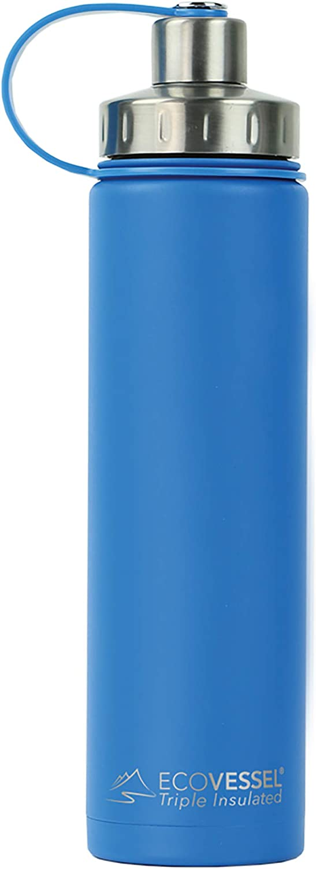 Eco Vessel Boulder Trimax Aislado al Vacío Botella de Agua de Acero Inoxidable, 24 oz