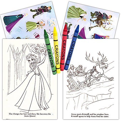 Frozen Ultimate Party Favors Packs 6 Sets With Stickers Coloring Books And Crayons