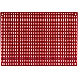 """Parts Express Red Perforated Large Hole Crossover Board Pair 5"""" x 7"""""""