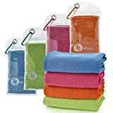 "U-Pick [4 Packs] Cooling Towel (40""x 12""), Ice Towel, Microfiber Towel, Soft Breathable Chilly Towel for Yoga, Sport, Gym, Workout,Camping, Fitness, Running, Workout & More Activities"