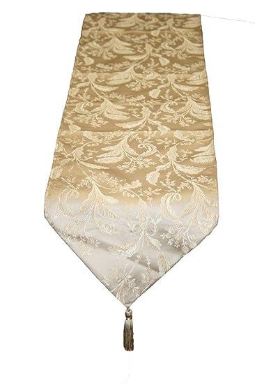 Violet Linen Luxury Damask Table Runner, 13u0026quot; ...