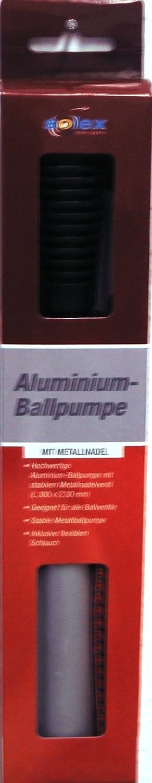 Solex Sports de Metal Bomba de Aguja de inflado, Negro, 37 x 3,4 cm, 45890