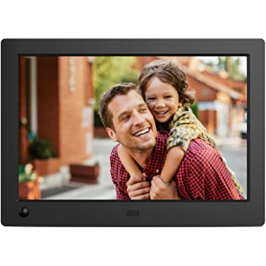 NIX X08G Advance 8  Widescreen Hi-Res Digital Photo & HD Video Frame with Hu-Motion Sensor, Black