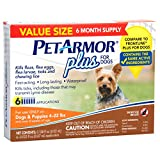 PetArmor Plus for Dogs, Flea and Tick Prevention for Small Dogs (5-22 Pounds), Includes 6 Month Supply of Topical Flea Treatments