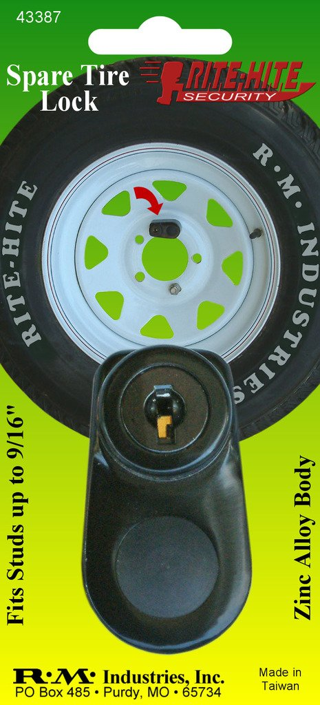 RITE-HITE Spare Tire Lock - Protects Your Spare Tire to Prevent Theft. Great for Boat Trailers