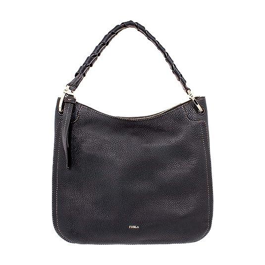 Handtasche, Leder, schwarz, wie neu, von Rialto