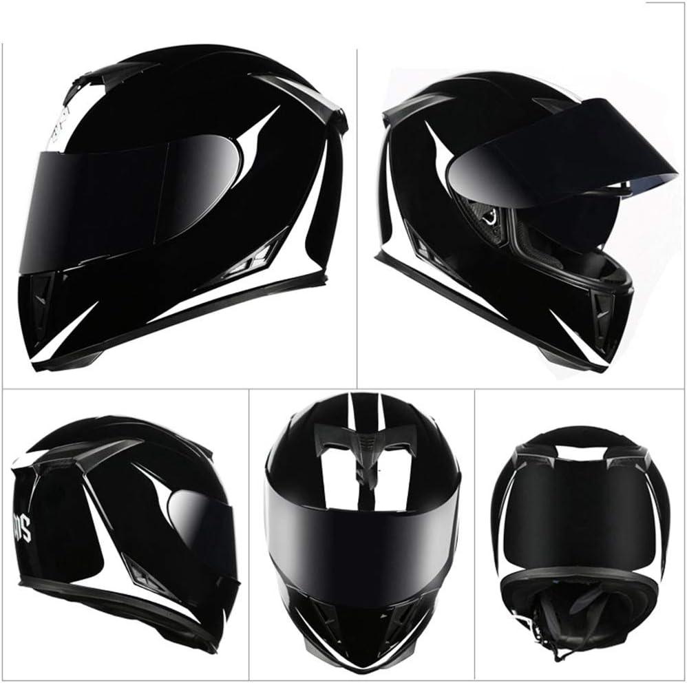 DaMuZ Motorbike Crash Modular Bluetooth Helme With Black Anti-Fog Dual Visors Motorcross Helmets Full Face Racing Motorcycle Helmet For Adult Men Women