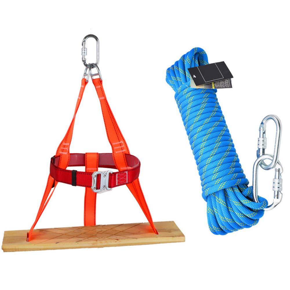 スイングロープセット、エアリアルワークダウンヒルプラットフォームセット、屋外ロッククライミングクロスキャンプバンドルロープ、ファミリ  rope70m