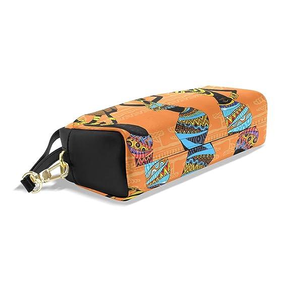 7bb2ec026c0b Amazon.com : BETTKEN African Indian Tribal Woman PU Leather Pencil ...