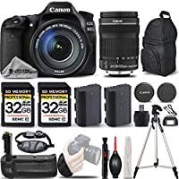 Canon EOS 80D Wi-Fi Full HD 1080P Digital SLR Camera + Canon 18-135mm IS STM Lens + Battery Grip + Extra Battery. All Original Accessories Included - International Version