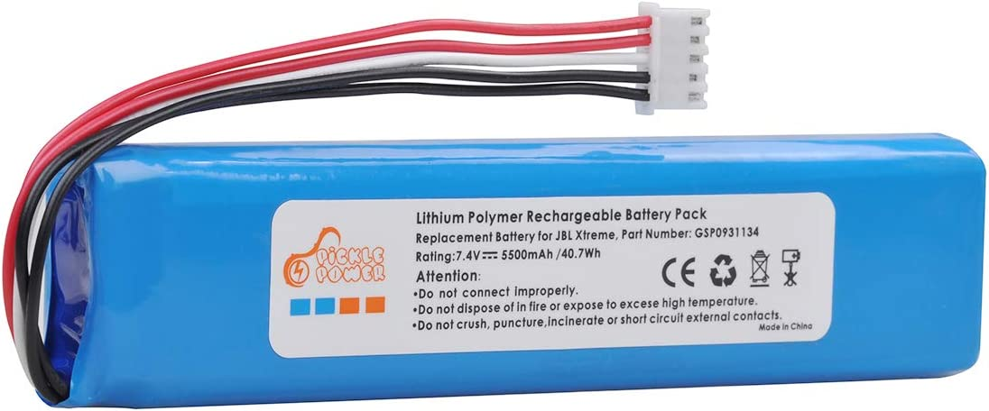 Pickle Power 5500mAh GSP0931134 Battery Replacement for JBL Xtreme Speakers with Tools
