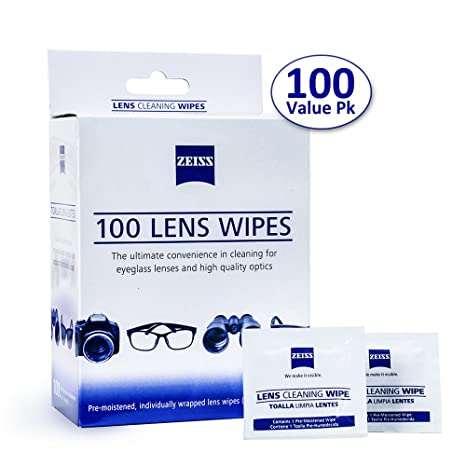 81b15429b28 Amazon.com  Zeiss Pre-Moistened Lens Cleaning Wipes - Cleans Bacteria and  Germs Without Streaks for Eyeglasses and Sunglasses  Cell Phones    Accessories