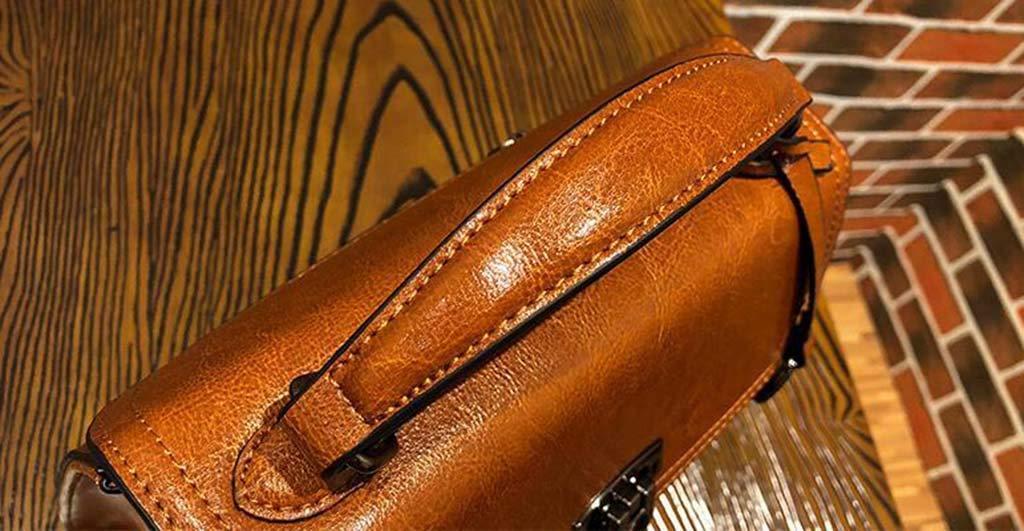 Huanglang Mode Frauen Umhängetaschen Stilvolle Umhängetasche Umhängetasche Umhängetasche Leder Mode vielseitig tragbare diagonale Schultertasche Gezeiten Lederhandtasche koreanische Version von einfachen Ölwachs B07PXK7NVW Umhngetaschen Sonderangebot 67a394
