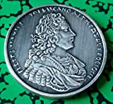 1729 Russian Thaler Silver Plated Challe