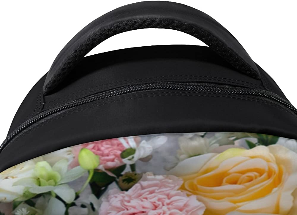 My Daily Beautiful Flowers Floral Backpack 14 Inch Laptop Daypack Bookbag for Travel College School