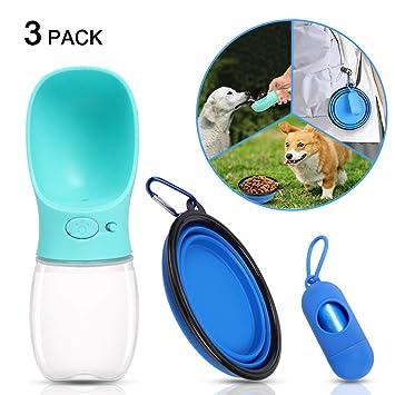 OWUDE Botella portátil de Agua para Perros, Botellas de Botellas de Agua Potable a Prueba