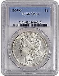 1904 O US Morgan Silver Dollar $1 MS63 PCGS