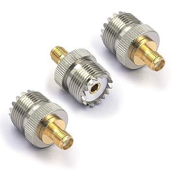 VCE Paquete de 3 Conectores SMA Hembra a UHF Hembra ...