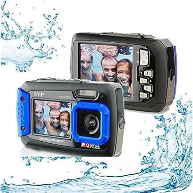 20MP Waterproof AQUA 8800 Shockproof UnderWater Digital Camera Video recorder (Blue) with 16GB card By SVP