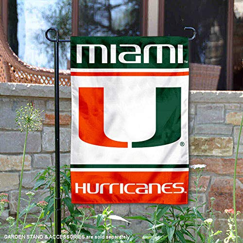 College Flags and Banners Co. Miami Hurricanes Garden Flag ()