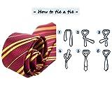 QXFQJT Novelty Glasses Striped Tie with Wizard