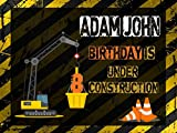 36 construction cones - Custom Construction Cones Crane Machine Banner Decoration Birthday Party Poster with Crane - size 24x36, 48x24, 48x36; Birthday Banner Wall Décor, Handmade Party Supplies Poster Print