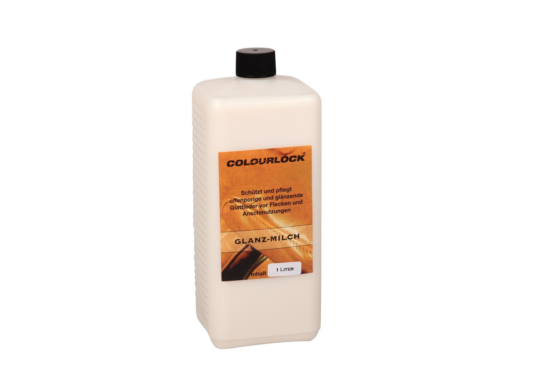 Colourlock Gloss Cream for Glossy Aniline Leather and Coated Leather to Care, Protect and Waterproof Aniline, Waxed, Oily or Pull up Leathers on Furniture, Shoes, Jackets, Bags and Garments 1 Litre