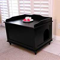 Designer Catbox Litter Box Enclosure in Black