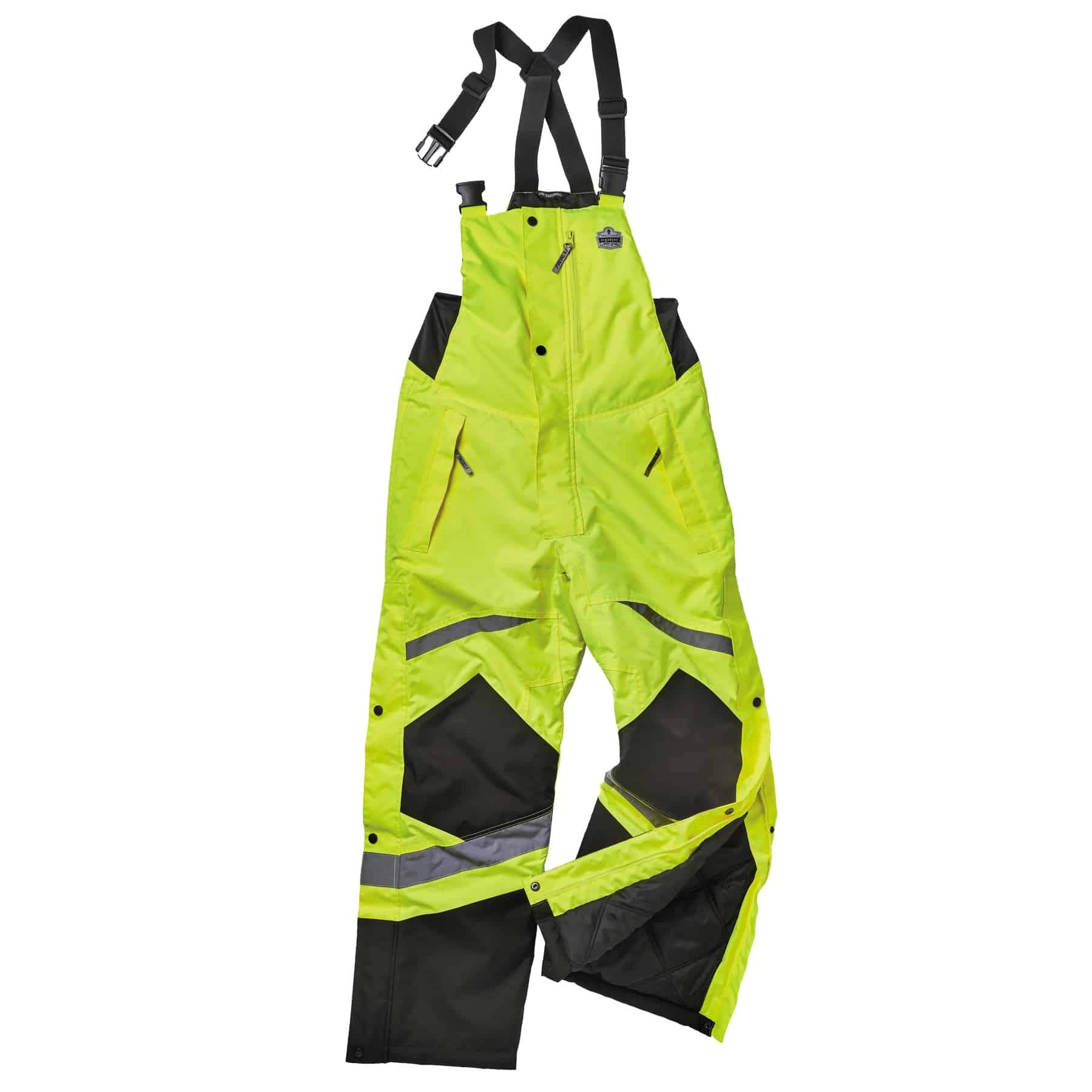 Insulated Thermal Bib Overalls, High Visibility, Weather-Resistant, 2XL, Ergodyne GloWear 8928