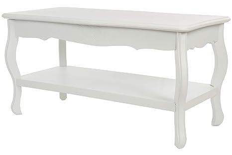 Tavolo Bianco Barocco.Elbmoebel Tavolo Tavolino 88 X 44 Cm Bianco Antico Barocco