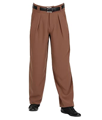52 Mandel Hombre Pinzas Básico K Con Marrón Pantalón Para H b6vYy7gf