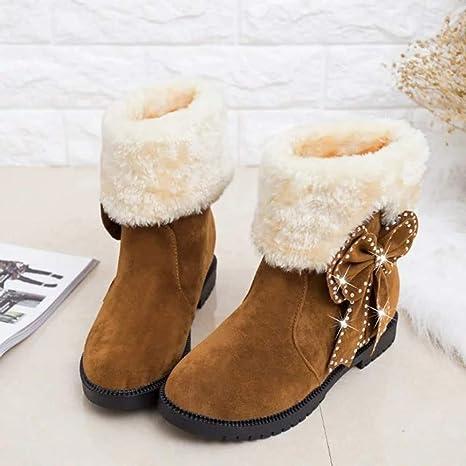 Nacome Womens Plus Velvet Short Rain Boots Waterproof Slip On Low Heel Ankle Bootie Shoes