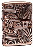 Zippo Gears Armor Antique Copper Finish Lighter
