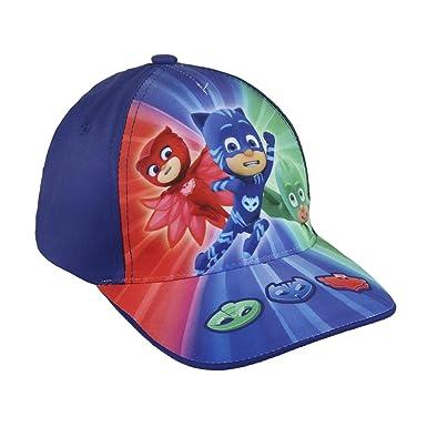 PJ Masks Héroes en Pijamas 2200002851 Gorra, Algodón, Gatuno, Buhíta, Gecko (Azul): Amazon.es: Juguetes y juegos