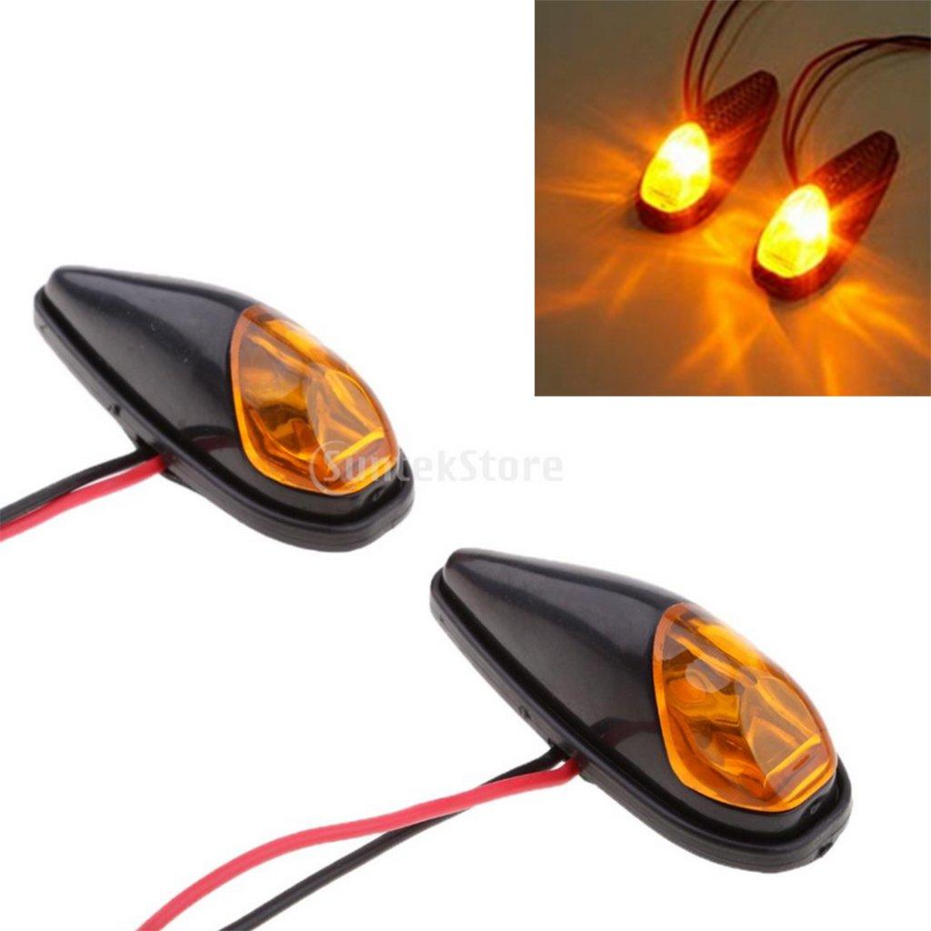 Sharplace Indicatore di Direzione LED Luce Seganle On Off Rapido Universale Moto - Carbonio