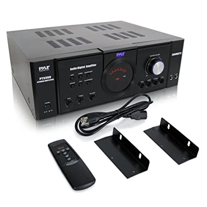 Pyle 3000 Watt Premium Home Audio Power Amplifier - Portable 4 Channel Surround Sound Stereo Receiver w/ Speaker Selector & Remote - For Amplified TV, ...