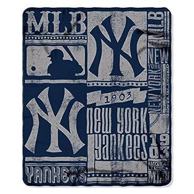 MLB New York Yankees Strength Printed Fleece Throw, 50-inch by 60-inch