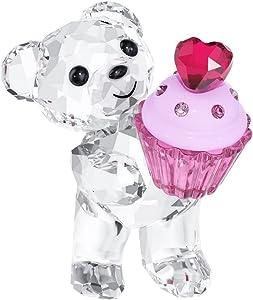 SWAROVSKI Kris Bear Figurine, Pink Cupcake