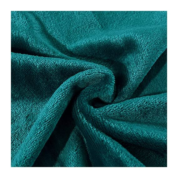 "Exclusivo Mezcla Luxury Flannel Velvet Plush Throw Blanket – 50"" x 60"" (Teal) - 280GSM FLANNEL FLEECE- The flannel fabric we choose is originally made from 100% microfiber polyester and brushed to create extra softness on both sides, the throw is designed to be simple but elegant. DURABILITY- The throw we offered is designed to be simple but elegant, this plush throw is super soft, durable, warm and lightweight. It's wrinkle and fade resistant, doesn't shed, and is suitable for all seasons. DECORATIVE- Throw features a velvet touch softness and rich and inviting designs, featuring a double-faced plush with graceful luster. Easily coordinates or enhances existing bedding or home décor. - blankets-throws, bedroom-sheets-comforters, bedroom - 61veU6caILL. SS570  -"