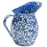 Enamelware Large Pitcher - Blue Marble