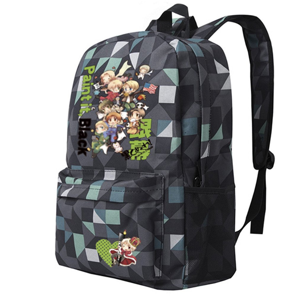 Siawasey Anime Axis PowersヘタリアコスプレブックバッグDaypack Collegeバックパックスクールバッグ   B0721Q61MP