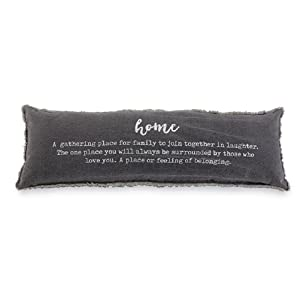 Mud Pie Home Definition Lumbar Decorative Accent Pillow, One Size, Gray