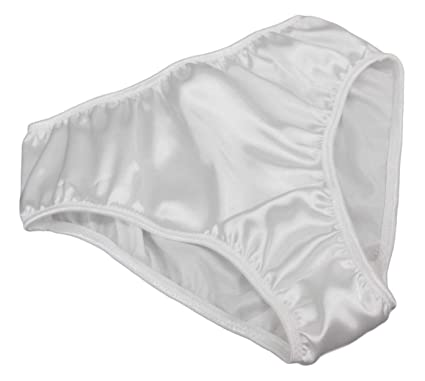 9d81e8227224 Shiny Satin Vintage School Girl Style Knickers. Bridal White Sizes XS to  XXL Made in