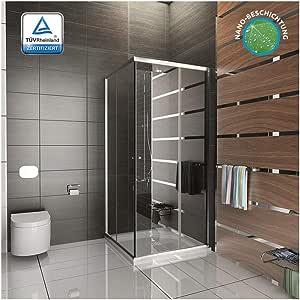 Cabina de ducha/ducha/ducha de aproximadamente 80 x 190 cm/cabina de ducha de cristal accesorios de/gimnasio ducha/entrada por la esquina/modelo Fugo entrada por la esquina: Amazon.es: Bricolaje y herramientas