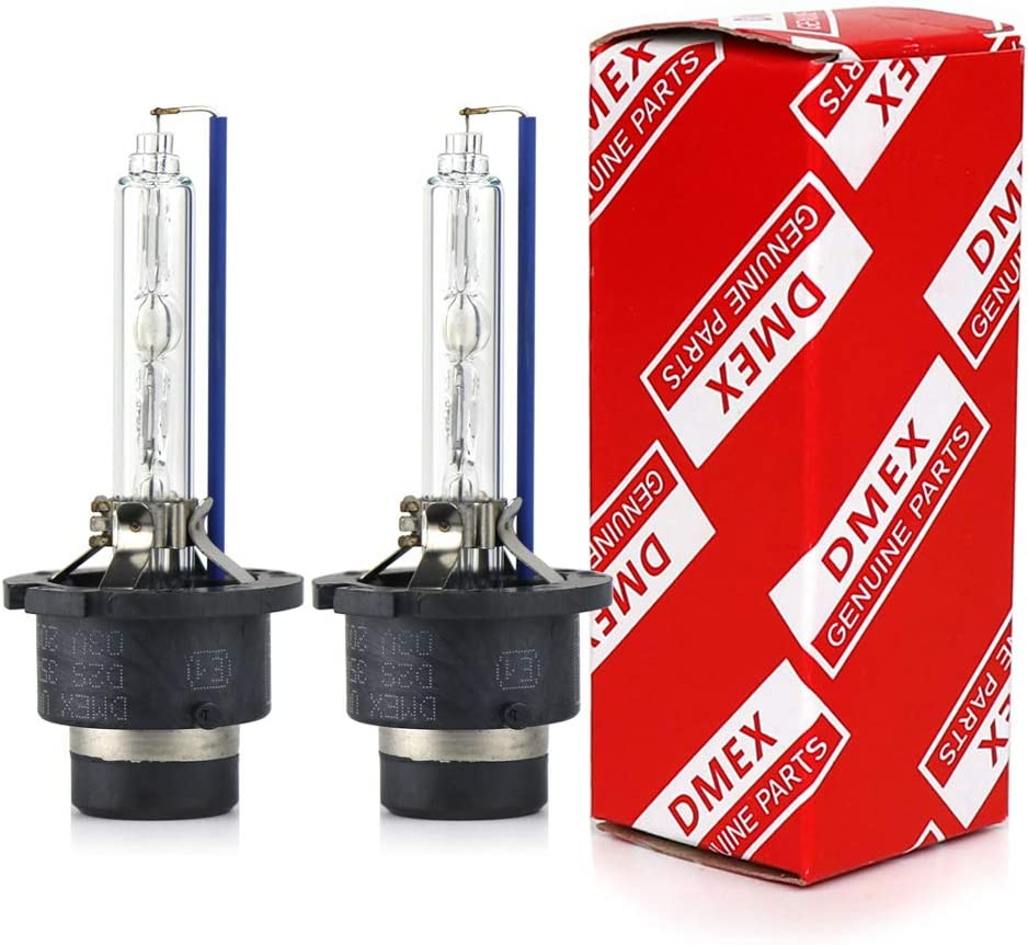 DMEX D2S - 35W - 6000K Cold White Xenon Headlight HID Bulbs 66240 85122UB 66040 Replacement - 2 Yr Warranty - Pack of 2