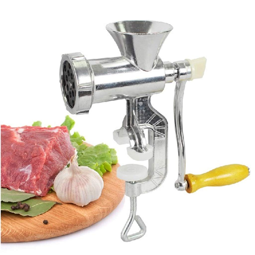 Manual Meat Grinder, Aluminum Alloy Meat Grinder, Hand Crank Meat Grinder, Household Hand Grinder Sausage Sausage Machine Kitchen Accessories Cast Iron Manual Meat Grinder Manual Meat Grinder Stainles by TAQUA
