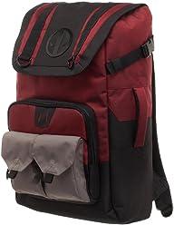 4694f3c8e35d Marvel Deadpool Backpack - Black and Red Deadpool Backpack