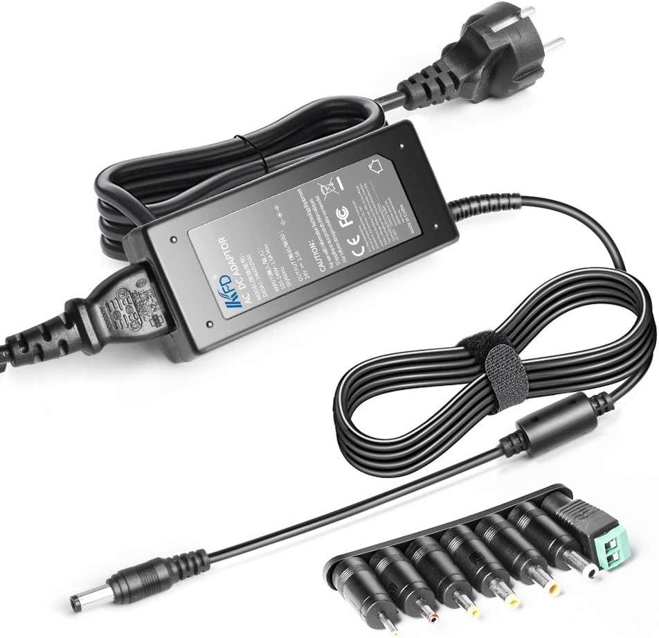 KFD 24V Cargador Universal Adaptador de Corriente con 7 Conectores para Logitech G25 G27 G29 G920 G940 Racing Wheel, 5050 3528 Tira de luz LED, 3D Impresora, Sistema de Seguridad CCTV, LCD Monitor
