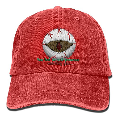 SDQQ6 Eye of Cthulhu Terraria Adult Cowboy Hat Baseball Cap Adjustable Athletic Creating Sports Hat for Men and Women -